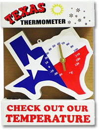 Texas Shaped Thermometer